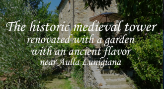 Ancient medieval tower restored in a stone house with garden and farmhouse, fantastic place in Tuscany,Aulla Lunigiana ref.2372